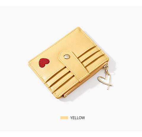 Heart Print Leather Card Holder gallery 10