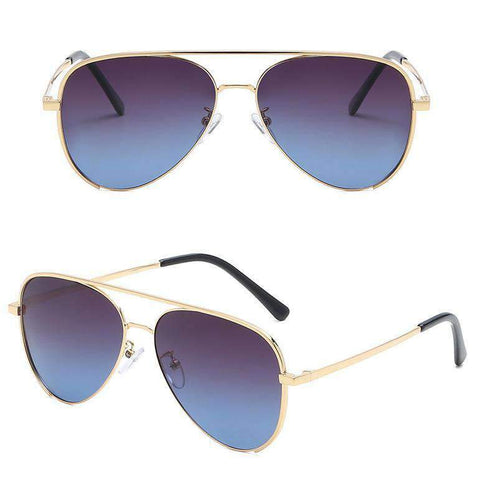 Double Layer Frame Aviator Sunglasses gallery 3