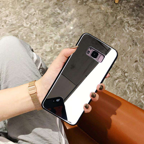 Mirror Tempered Glass Phone Case for Samsung gallery 2
