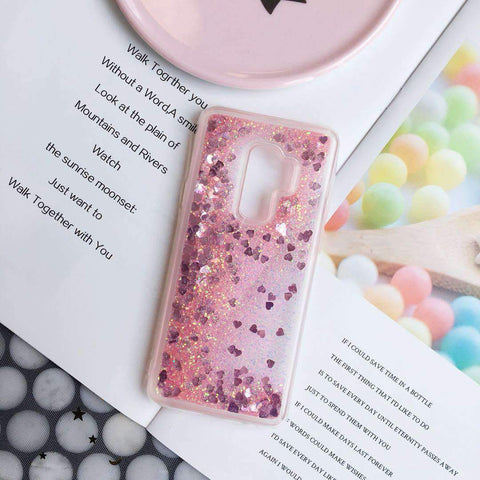 Chic Pure Color Star Fragments Liquid Bling Glitter Samsung Case gallery 5