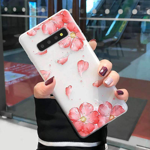 Frosted Literary Flower Painted Samsung Case gallery 2