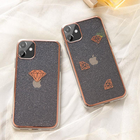Cute Electroplate Heart/Diamond Pattern Phone Case for Samsung gallery 5