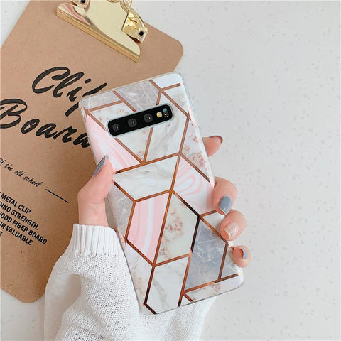 Geometry Marble Patch Phone Case for Samsung gallery 3