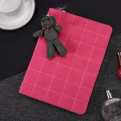 Knitted Grain Foldable iPad Cover Case (Without Furry Bear ) gallery 3