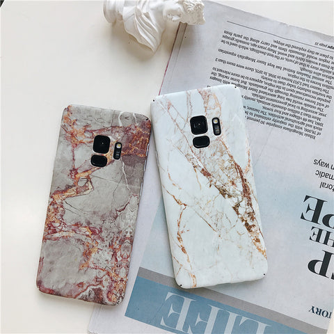 Matte Marble Printed Phone Case For Samsung gallery 1