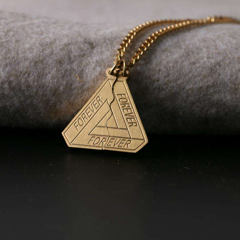 Splicable Forever Print Detail Silver/Gold Necklaces
