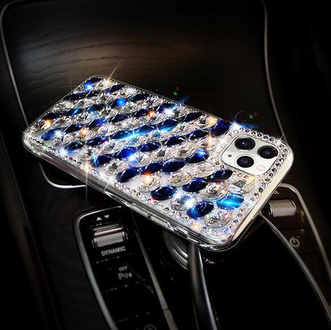 Full Rhinestone Cover Shockproof Phone Case for Samsung gallery 9