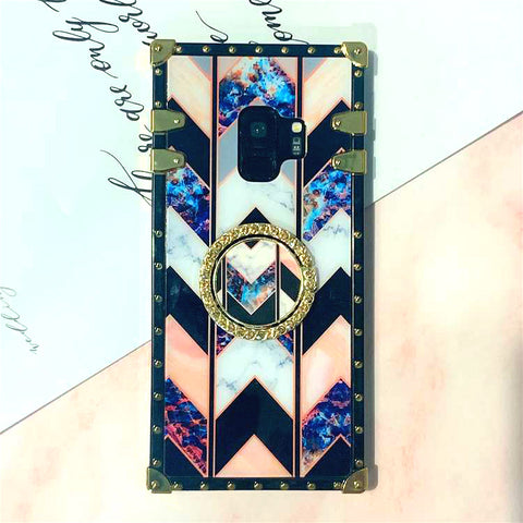 Floral Print Phone Case for Samsung with Phone Holder gallery 1