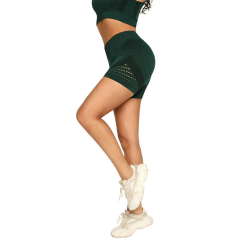 Contrast Hollow Out Seamless Sports Shorts gallery 7