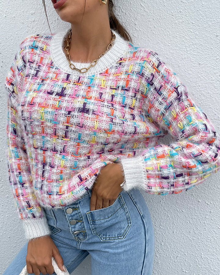 Fluffy Knit Round Neck Sweater gallery 2