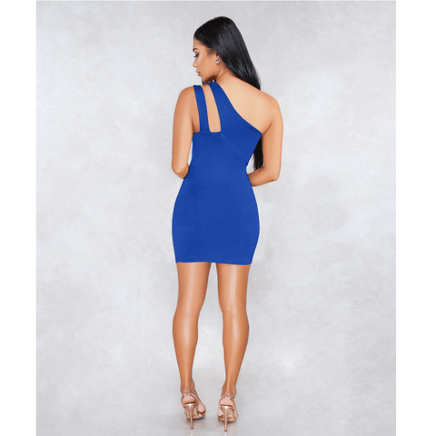 Sexy One Shoulder Bust Cut Out Bodycon Dress gallery 11