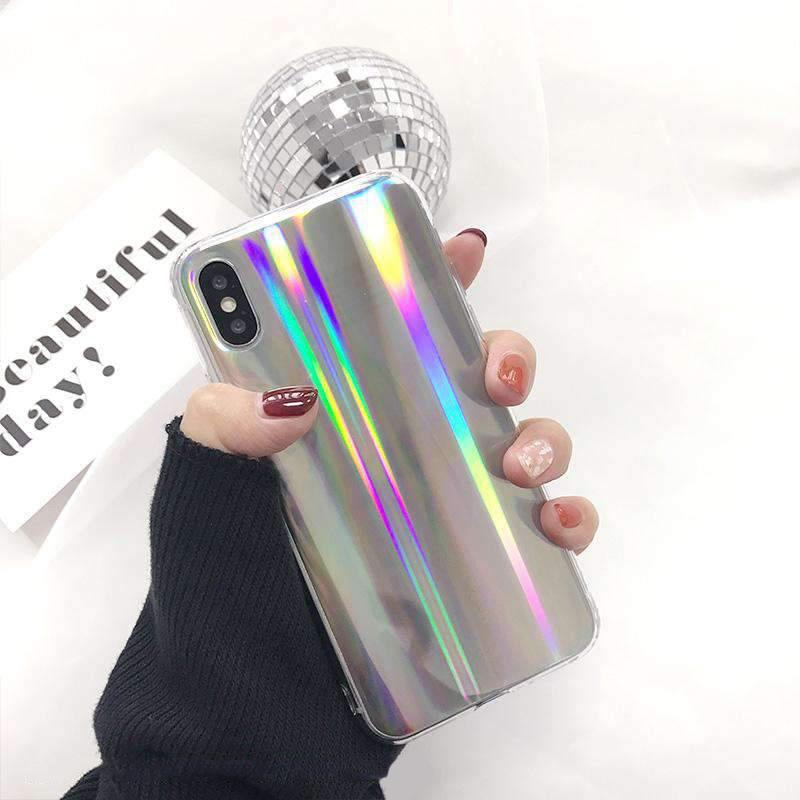 Silver Laser Beam iPhone Case