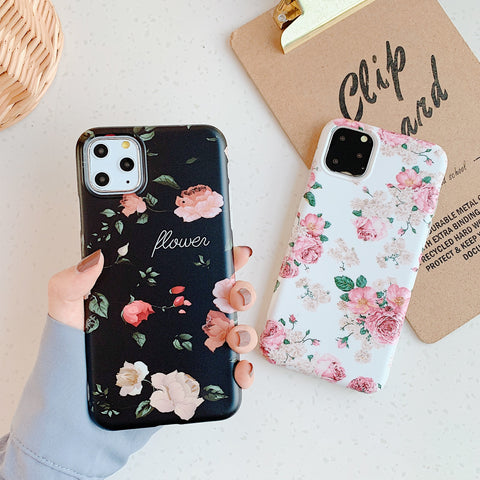 Chic Colorful Floral Print iPhone Case