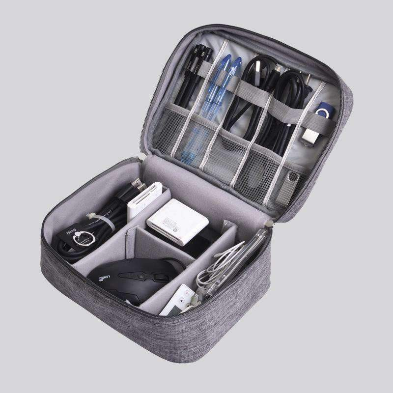 Electronic Accessories Storage Travel Bag Top-handle