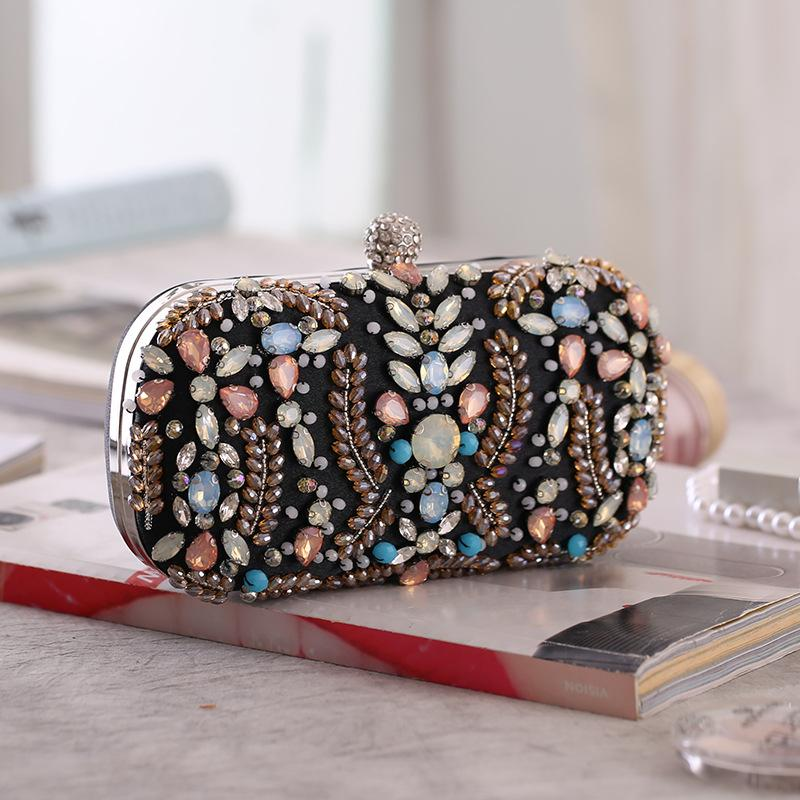 Colorful Rhinestone Glitter Evening Bag Clutch Purses