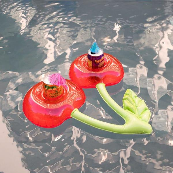 Cherry Inflatable Party Pool Drink Serving Float