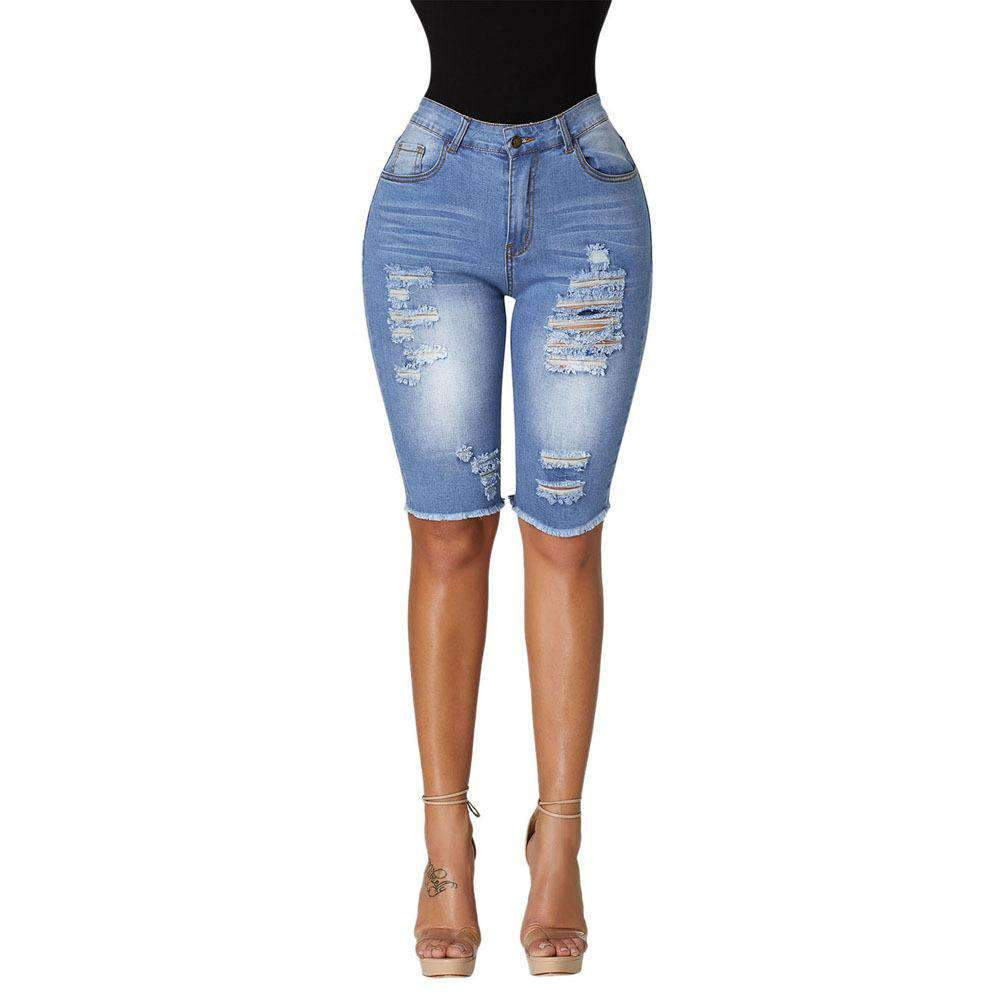 Buy One Get One 50% Off Middle Waist Ripped Slim Tom Boy Jeans