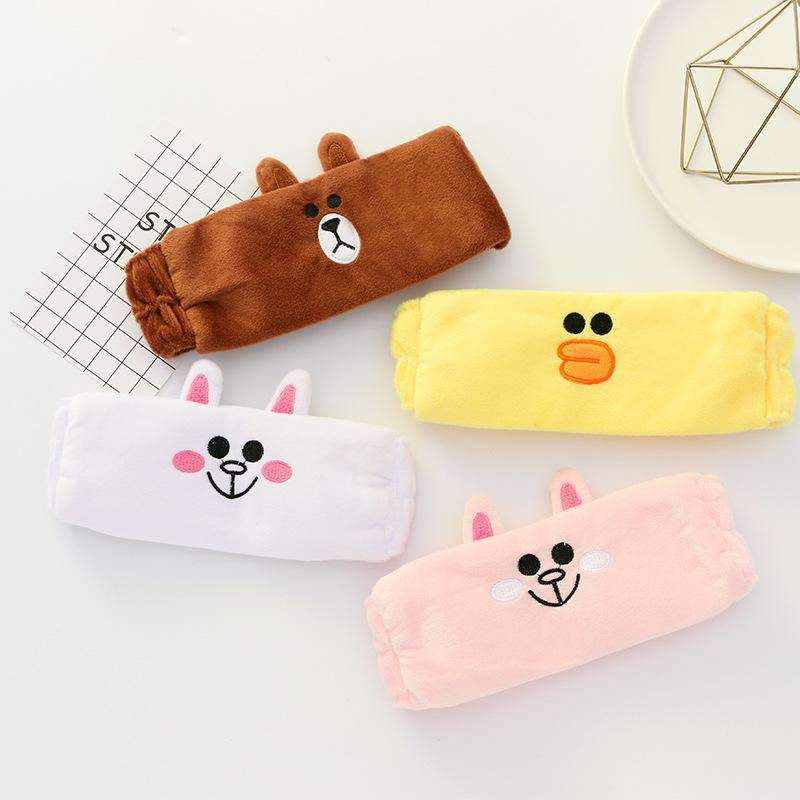 Bear Brown & Bunny Cony Print Headband