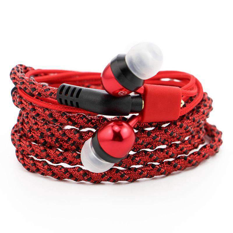 Creative Chic Braided Bracelet Line Control Earphone