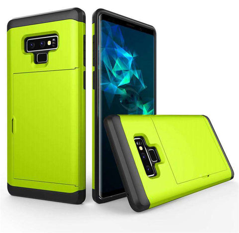 Samsung Galaxy Note 9 Pure Color Creative Phone Case With Card Holder gallery 11