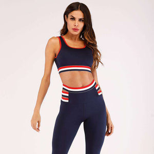 Patchwork Breathable Yoga Bra & Pants Legging