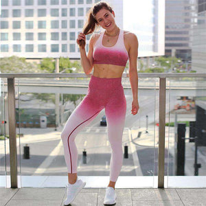 Gradation Cami Top & Pants Sports Yoga Set