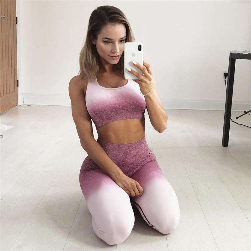 Gradation Cami Top & Pants Sports Yoga Suit