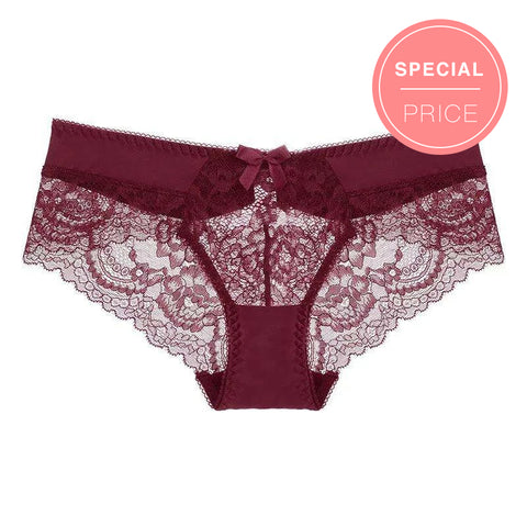 Women's Sexy Lace Low-Waisted Seductive Panty (3Pcs)