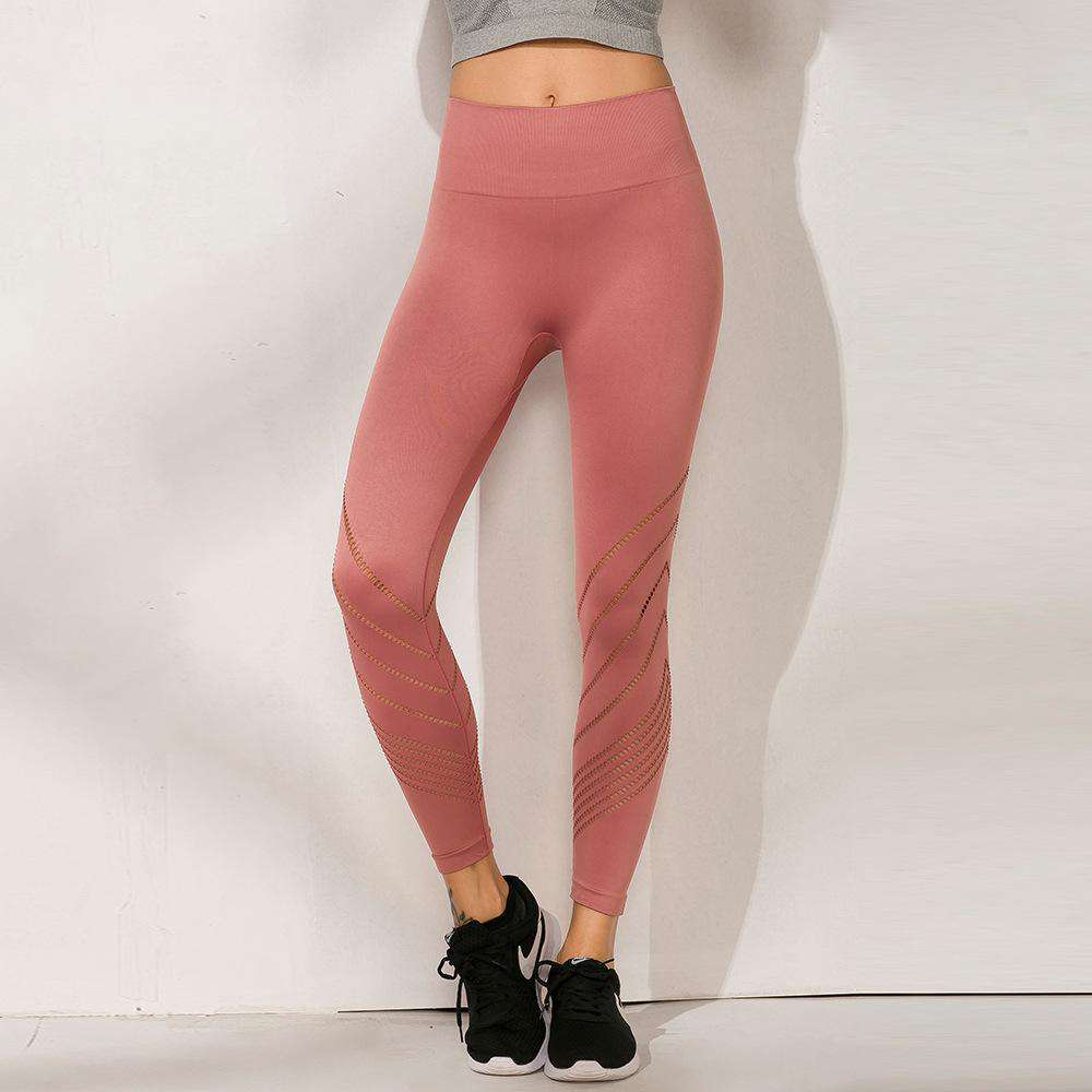 Hip Lifting Hollow Out Seamless Cropped Sports Yoga Pants Legging