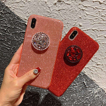 Sparkling Powder Print with Phone Stand For All Apple Phone
