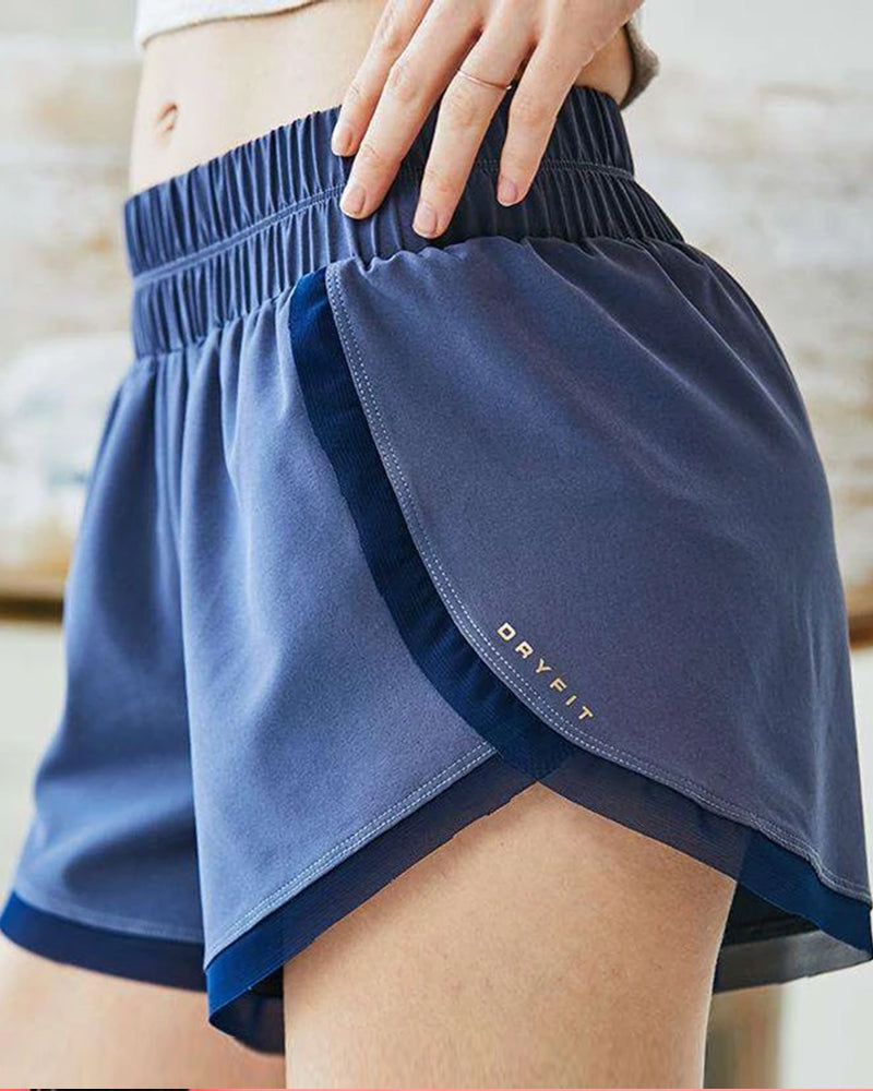Quick Dry Elastic Yoga Shorts