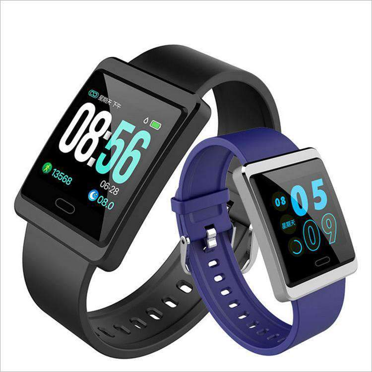 Bluetooth Smart Step Movement Heart Rate Blood Pressure Monitoring Bracelet