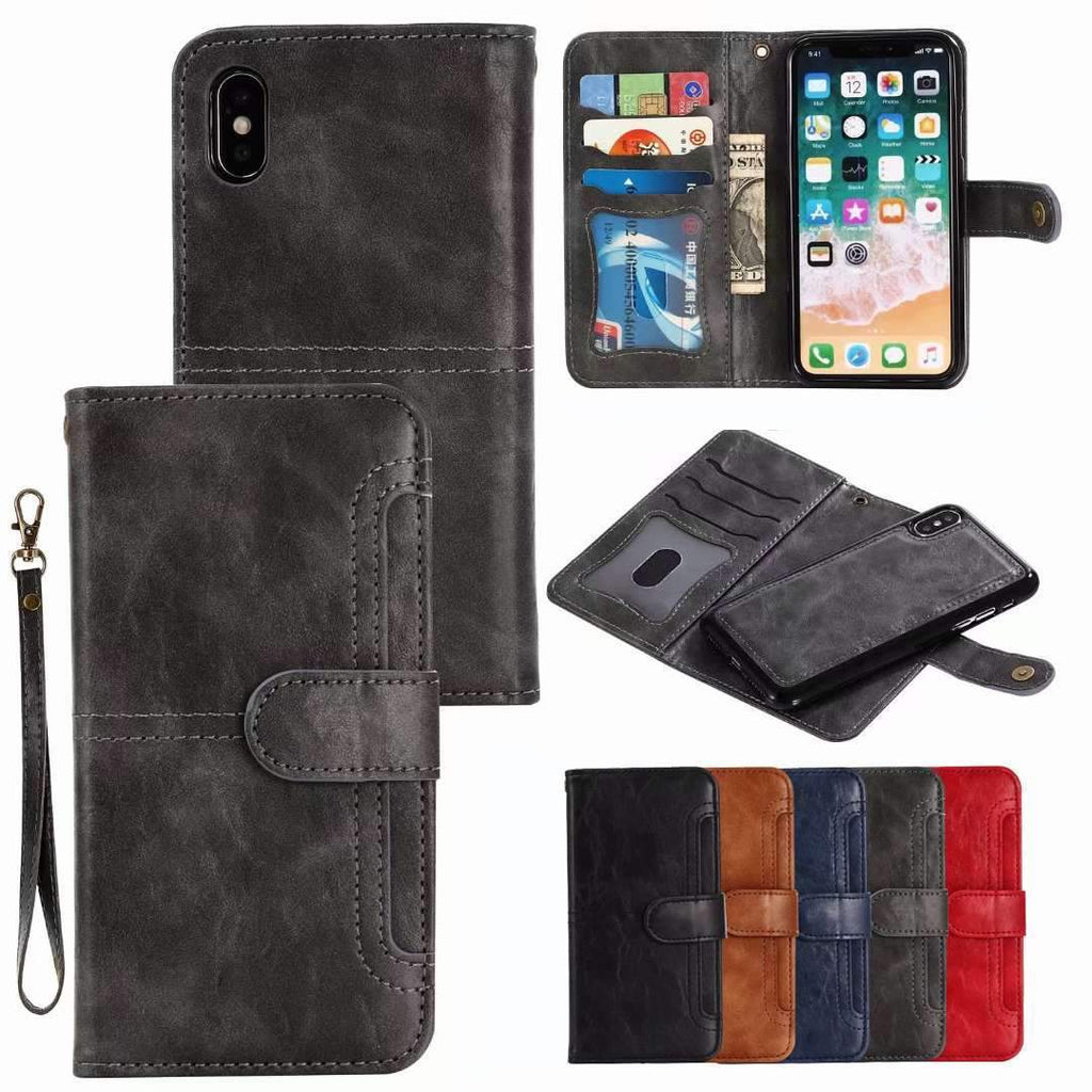 Retro Multi-functional Leather Phone Case for Samsung
