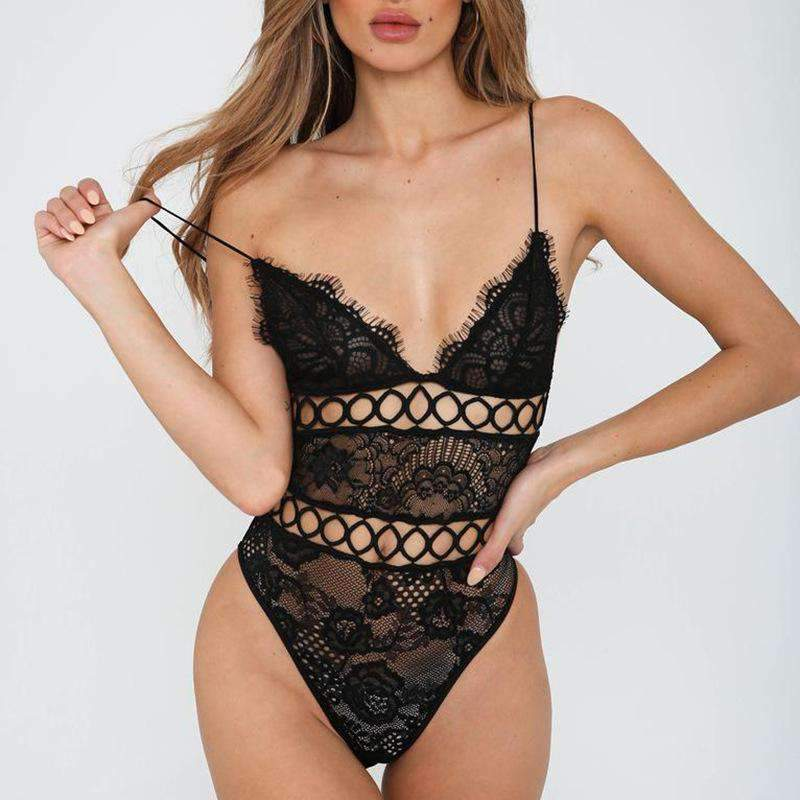 Attractive Sexy Lace Lingerie One Piece Babydoll Bodysuit