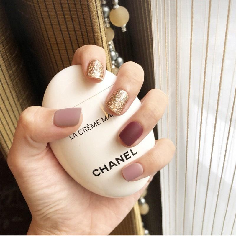 Champagne Magic Press On Nail Manicure