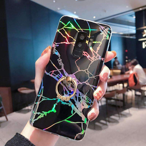 Creative Marble Soft Phone Case for Samsung with Phone Holder gallery 5