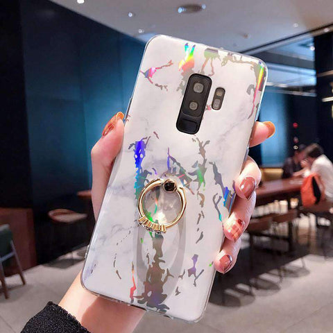 Creative Marble Soft Phone Case for Samsung with Phone Holder gallery 7