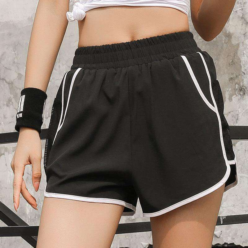 Patchwork Loose Quick Dry Workout Sports Shorts