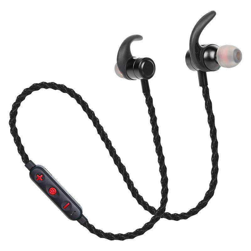 Braided Wireless Stereo Magnetic Sports Bluetooth Earphone