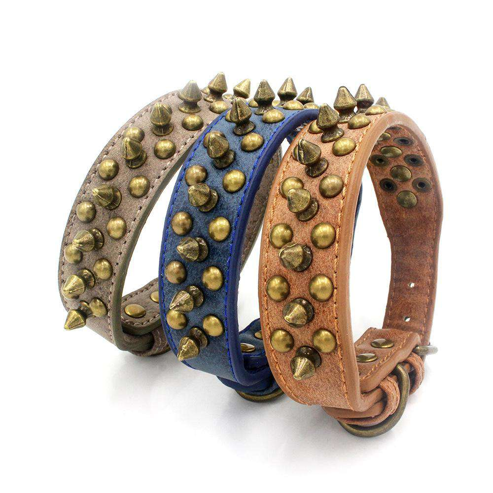 Punk Style Anti-Biting Studded Rivet Pet Dog Collar