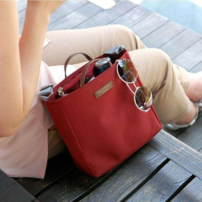 Korean Style Square Shape Travel Shoulder Bag with Handle