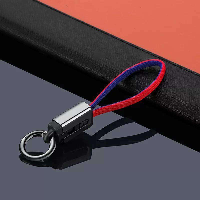 USB Data Cable  Key Chain for both Apple and Android