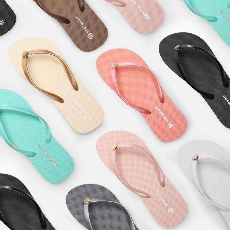 Chic Candy Color Flip Flops