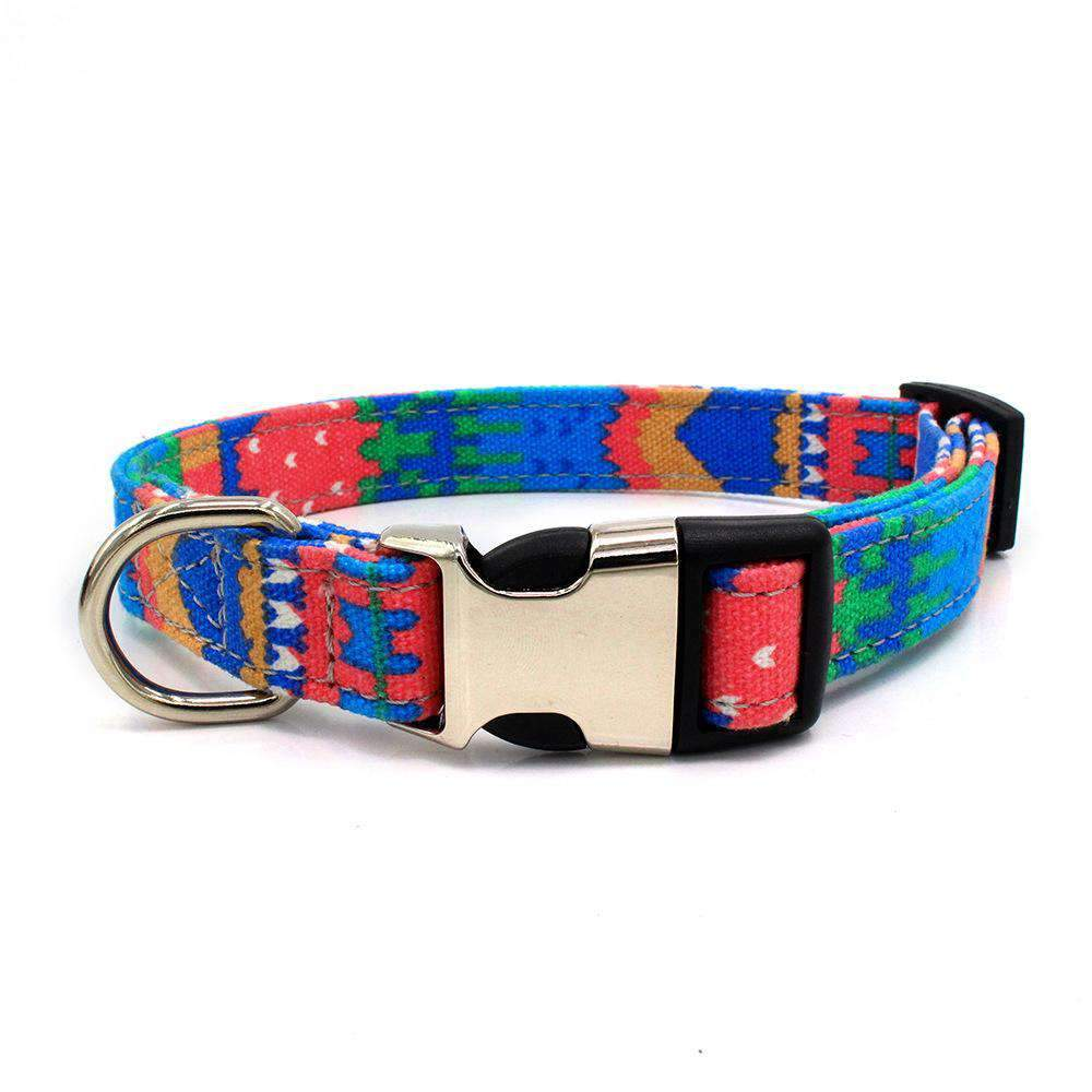 Creative Patchwork Pattern Double Layer Pet Collar