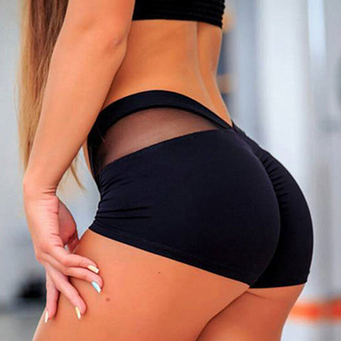 Contrast Mesh Butt Lifting Active Shorts gallery 3