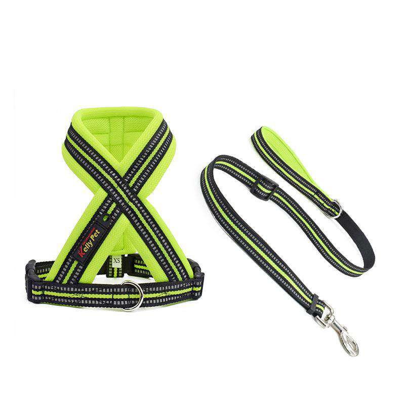 Reflective Herringbone Chest Strap For Pets