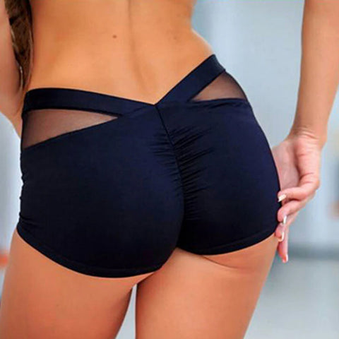 Contrast Mesh Butt Lifting Active Shorts gallery 1