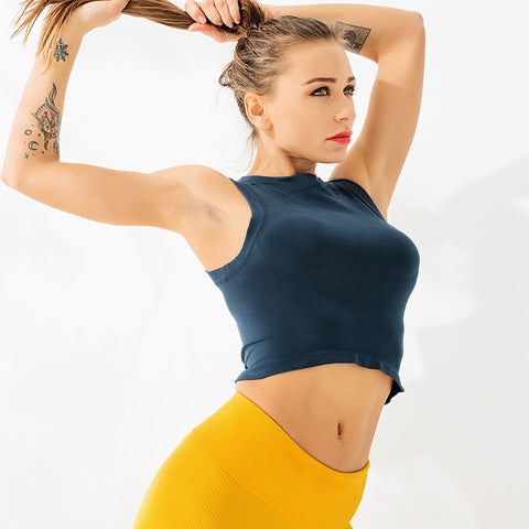 Solid Seamless Sports Tank Top