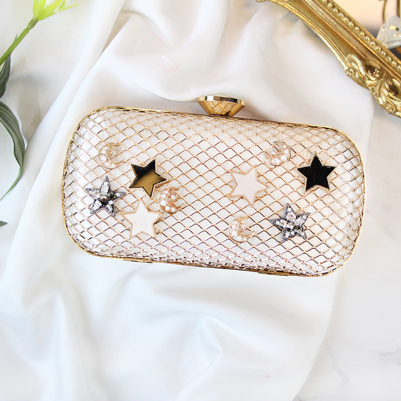 Rhombus Hollow Star Glitter Daily Clutch Bag