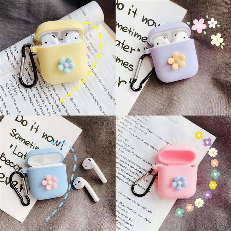 Lovable Candy Color Small Flower Protective Case for AirPods